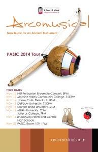Arcomusical PASIC 14 Tour Poster