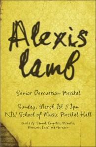 Alexis Lamb Senior Recital Poster
